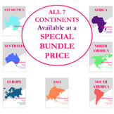 Social Studies Informational Text Passages (All Seven Continents, Printable)