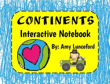 Continents Interactive Notebook