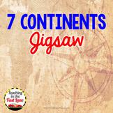 Continents Jigsaw Activity