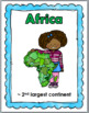 Continents & Kids Geography Posters & Activities