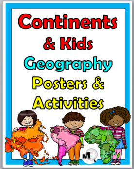 7 Continents Geography Posters & Activities