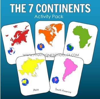 Continents Learning Pack and Activity Sheets