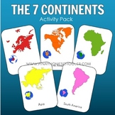 7 Continents Montessori 3 Part Cards