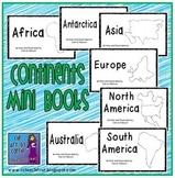 Continents Mini Book Set:  7 Emergent Readers