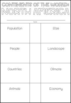 Continents: North America Interactive Flip Book Poster
