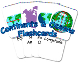 Continents/Ocean Flashcards