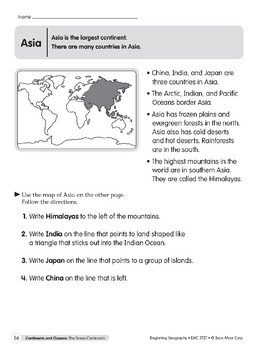 Continents & Oceans: Asia