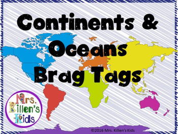Continents & Oceans Brag Tags