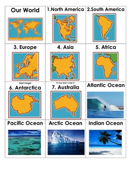 Continents & Oceans Chant and Tap
