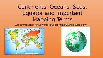 Continents oceans equator lines of latitude and longitude tpt continents oceans equator lines of latitude and longitude gumiabroncs Choice Image