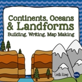Landforms, Continents & Oceans Activities {A Science, Writing & Literacy Unit}