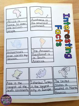 Continents & Oceans Lapbook