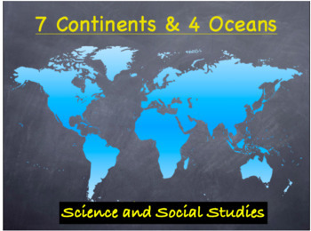 Continents & Oceans Lesson