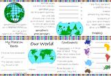 Continents/Oceans Minibook