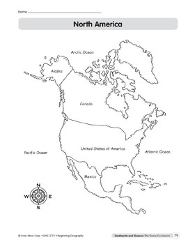 Continents & Oceans: North America