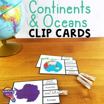 Continents & Oceans Pick 'n Flip Clip Cards