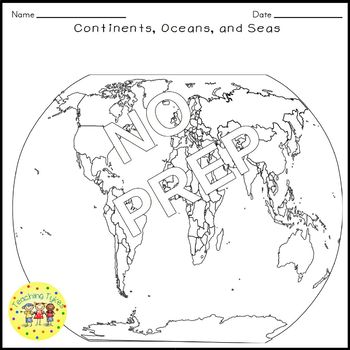 Continents Oceans Crossword Puzzle