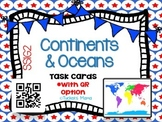 Continents & Oceans Task Cards