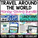 Continents, Oceans, & World Landforms BUNDLE!