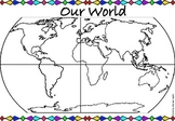 Continents/Oceans World Map Labeling