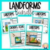 Continents, Oceans, and Landforms Bundle for Kindergarten and First Grade