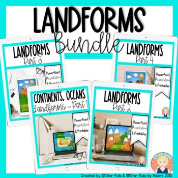 Landforms Bundle for Kindergarten and First Grade