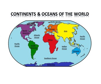 Continents & Oceans of the World PowerPoint
