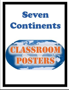 Continents Posters (and Quizzes)
