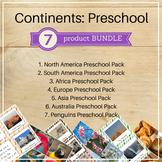 Continents Preschool Packs Bundle