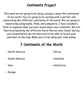 Continents Project