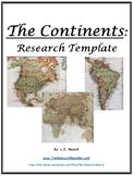 Continents Research Template EDITABLE