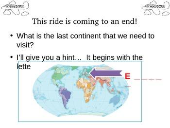 Continents Slide Show Presentation