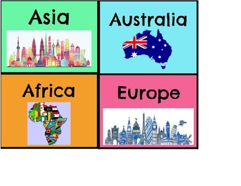 Continents Tables and Labels
