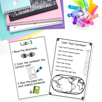 Continents Unit   Social Studies and Science Centers for Primary Grades