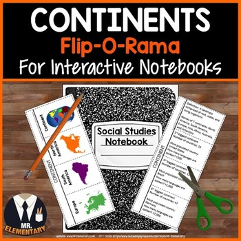 Continents Vocabulary Interactive Notebook