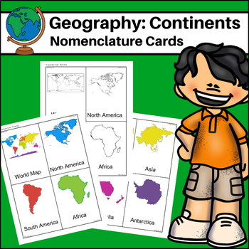 Continents - World Geography Nomenclature Cards