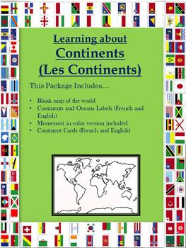 Blank continent maps teaching resources teachers pay teachers plus montessori world map publicscrutiny Image collections