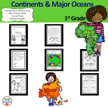 Continents and Major Oceans for 1st Grade