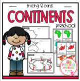 Continents and Montessori 3 Part Cards