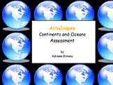Continents and Oceans Assessment