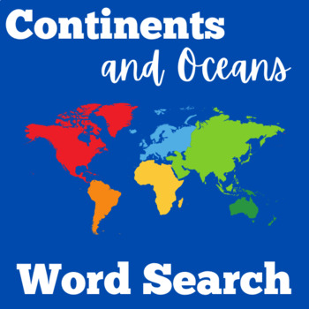 Continents and Oceans Activity