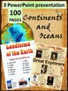 Continents and Oceans - America - Europe - Asia - Africa -
