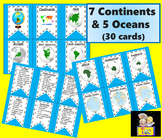 Continents and Oceans Cards Facts distance learning