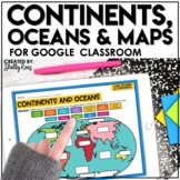 Continents and Oceans Activities for Google Classroom