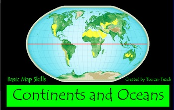 Continents and Oceans Basic Map Skills SMARTBoard Activities