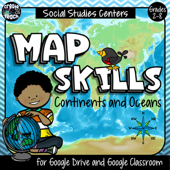 Continents and Oceans Digital Interactive for Google Apps