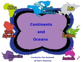 Continents and Oceans FUN and FACT Sheets