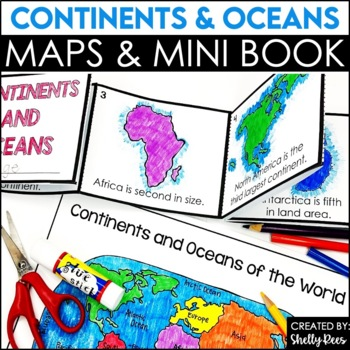 Continents and Oceans Foldable Booklet Activities