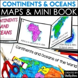 Continents and Oceans Foldable Booklet Activities   World Map