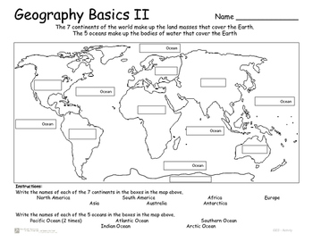 Continents and Oceans - Geography Basics -
